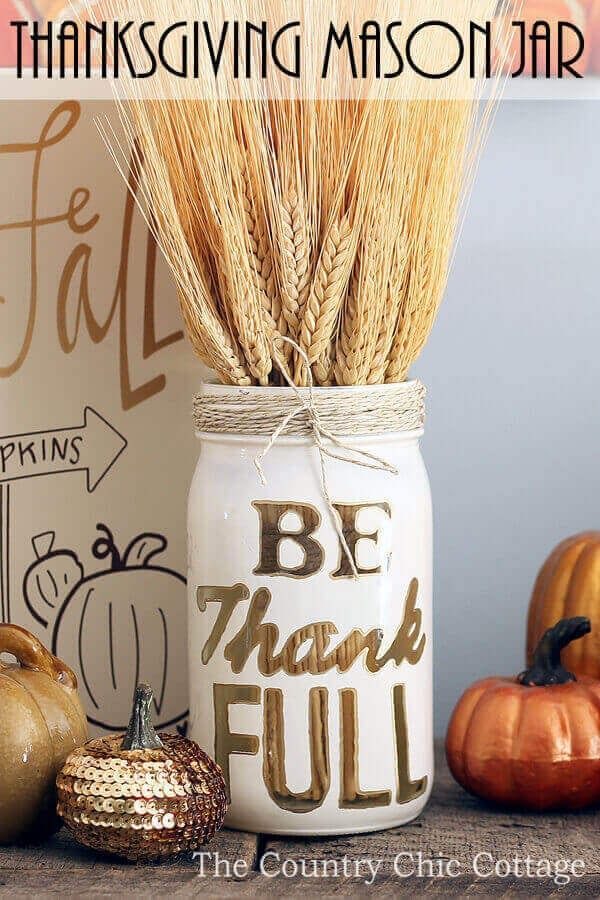 Thanksgiving Mason Jar