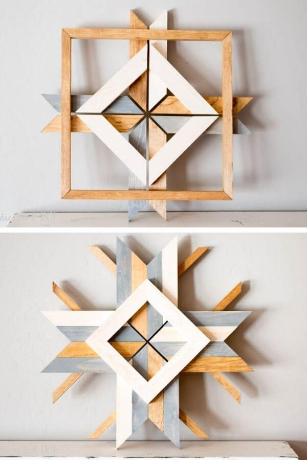 West Elm-Inspired Abstract Snowflakes