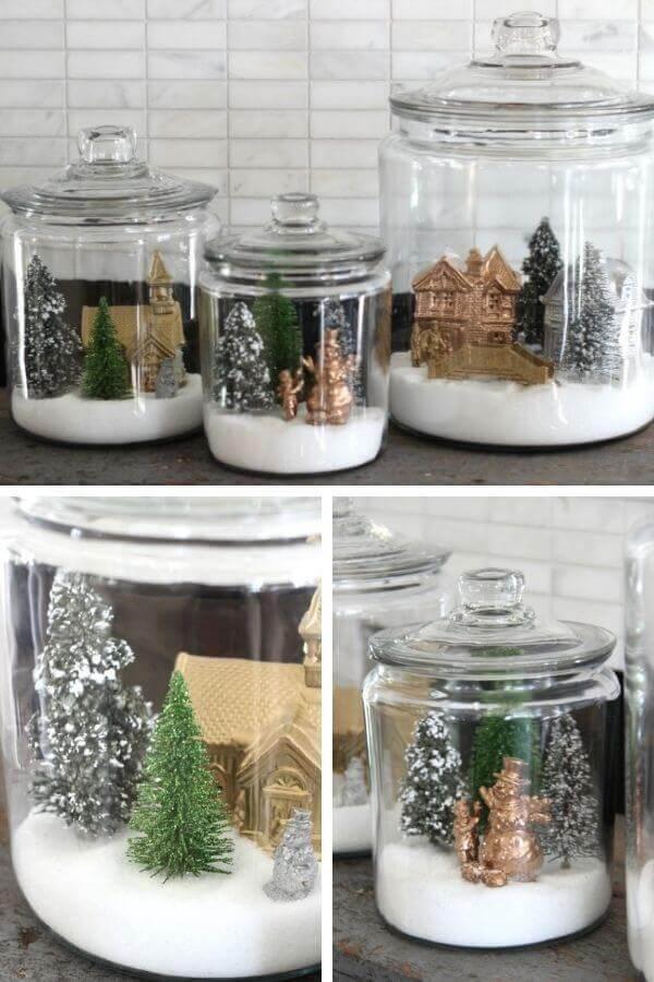 Winter Village Snow Jars