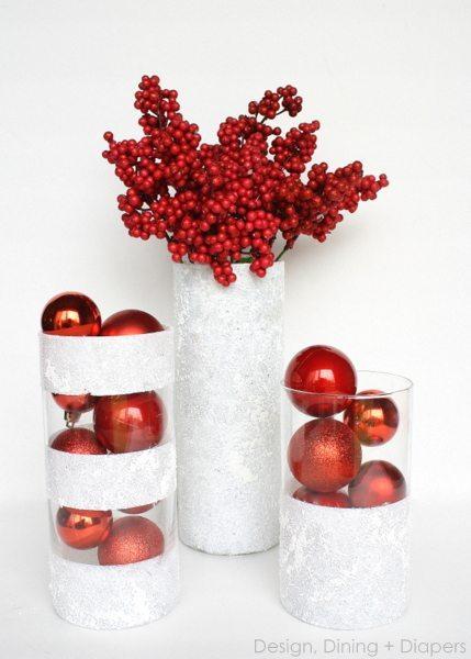 Dollar Store Winter Vases