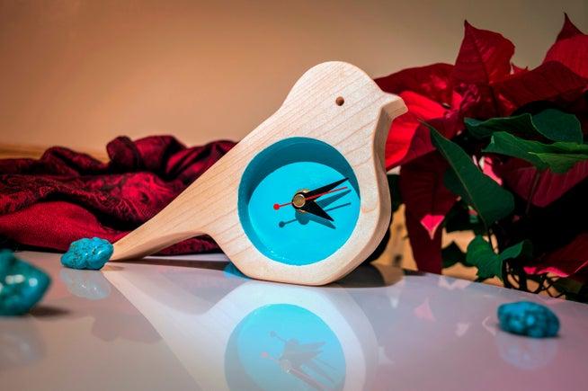 Wooden Bird Clock