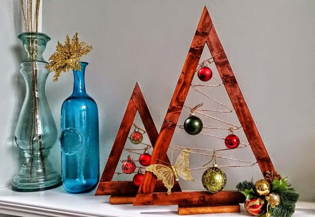 Wooden Ornament Trees