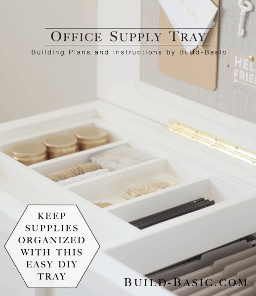 Wooden Supply Tray
