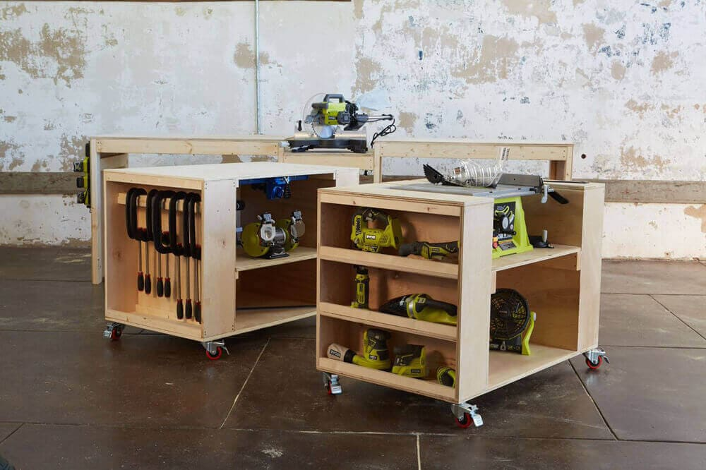 Workbench With Miter Saw Stand