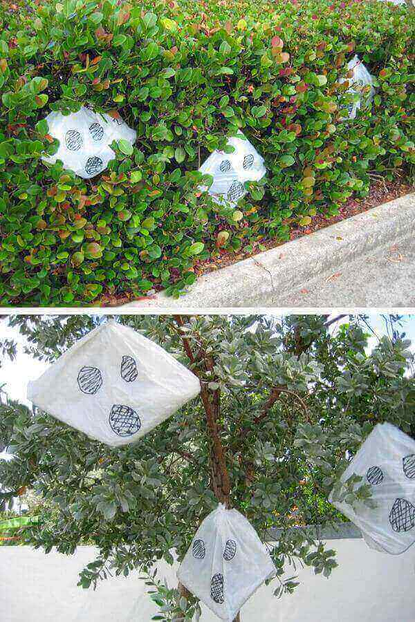 Yard Ghosts From Recycled Plastic Bags