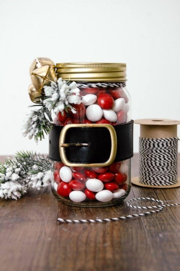 Dollar Store Santa Belt Jars