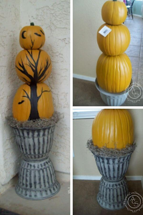 Pumpkin Topiary Decor